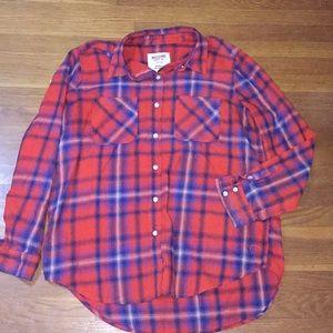 Plaid lightweight flannel